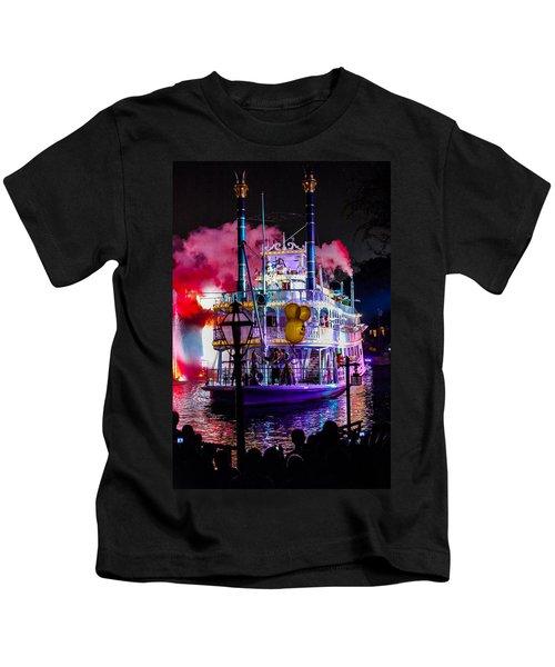 The Mark Twain Disneyland Steamboat  Kids T-Shirt