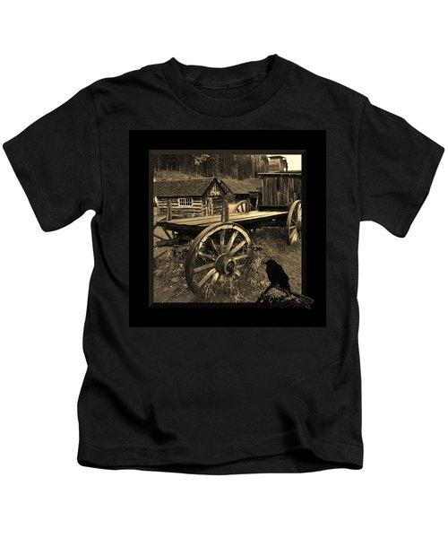 The Raven Flies Straight Kids T-Shirt