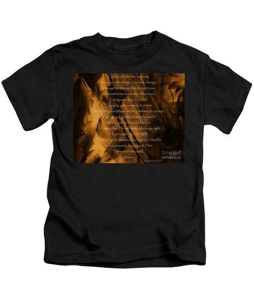 The Serenity Prayer Kids T-Shirt
