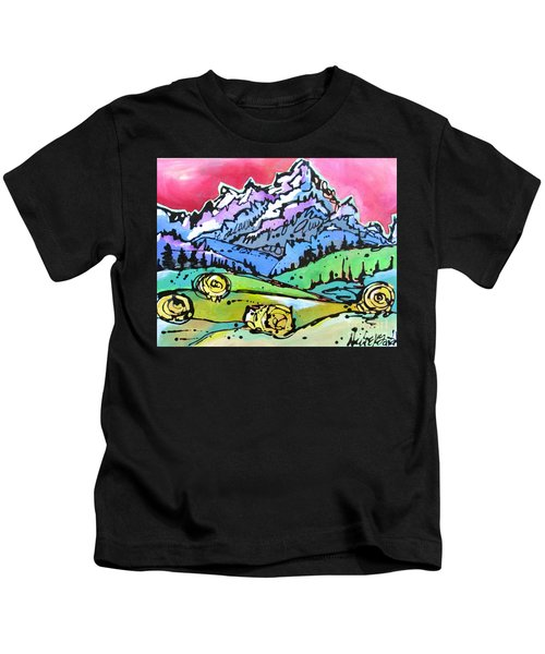 The Tetons From Walton Ranch Kids T-Shirt