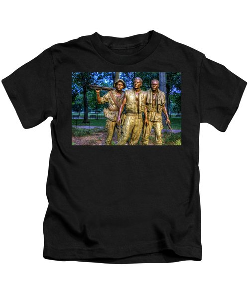 The Three Soldiers Facing The Wall Kids T-Shirt