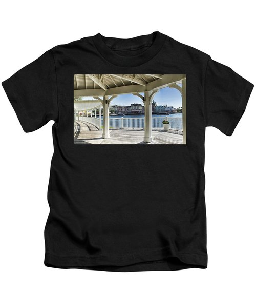 The View From The Boardwalk Gazebo At Disney World Kids T-Shirt