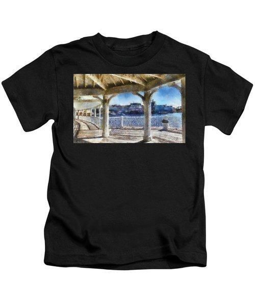 The View From The Boardwalk Gazebo Wdw 02 Photo Art Kids T-Shirt