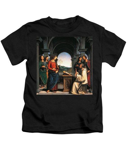 The Vision Of St Bernard Kids T-Shirt
