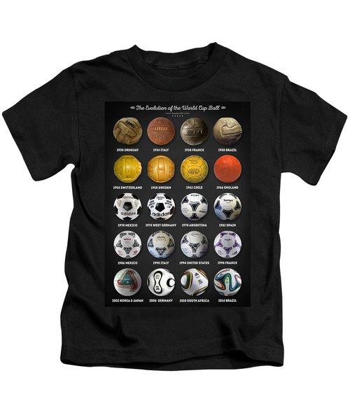 The World Cup Balls Kids T-Shirt by Taylan Apukovska