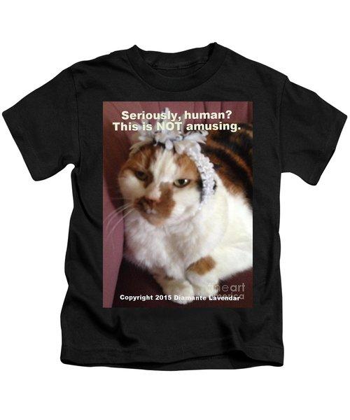 This Is Not Amusing Kids T-Shirt