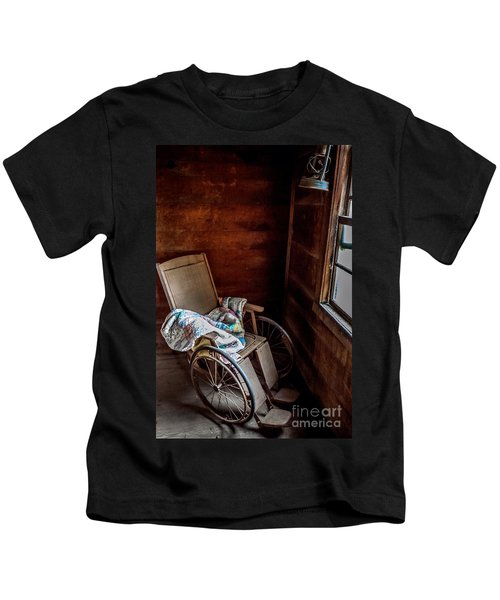 Wheelchair With A View Kids T-Shirt