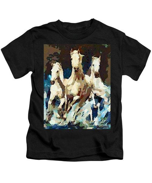Three Lipizzans Kids T-Shirt