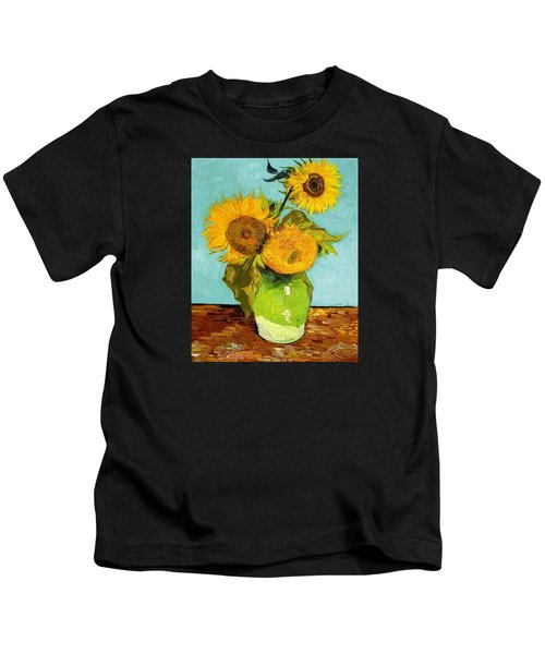 Three Sunflowers In A Vase Kids T-Shirt