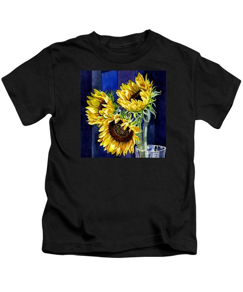 Three Sunny Flowers Kids T-Shirt