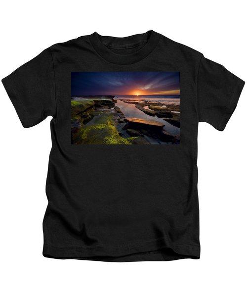 Tidepool Sunsets Kids T-Shirt