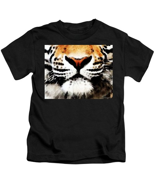 Tiger Art - Burning Bright Kids T-Shirt
