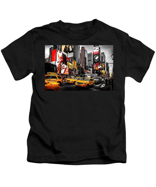 Times Square Taxis Kids T-Shirt