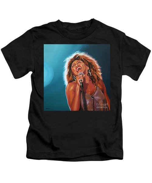 Tina Turner 3 Kids T-Shirt by Paul Meijering