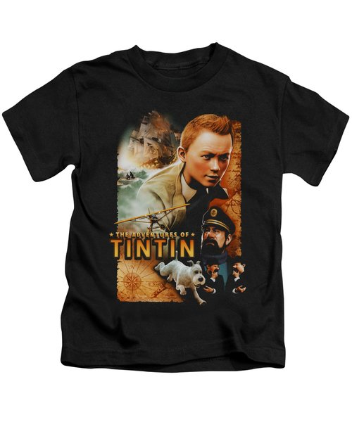 Tintin - Adventure Poster Kids T-Shirt