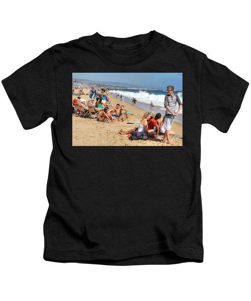 Tourist At Beach Kids T-Shirt