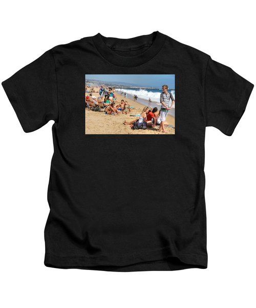 Tourist At Beach Kids T-Shirt
