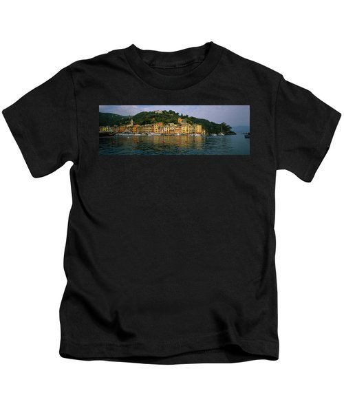 Town At The Waterfront, Portofino, Italy Kids T-Shirt