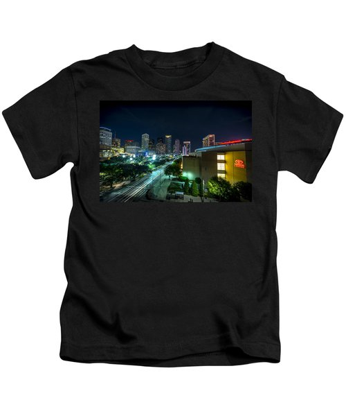 Toyota Center And Downtown Houston Kids T-Shirt