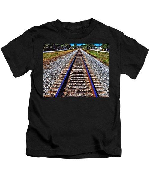 Tracks To Somewhere Kids T-Shirt