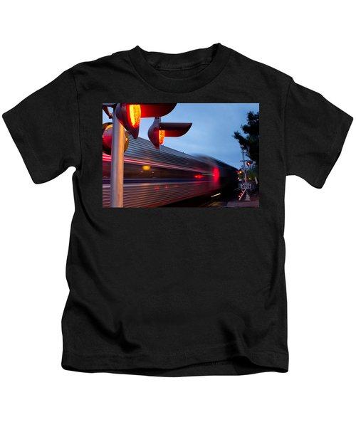 Train Crossing Road Kids T-Shirt