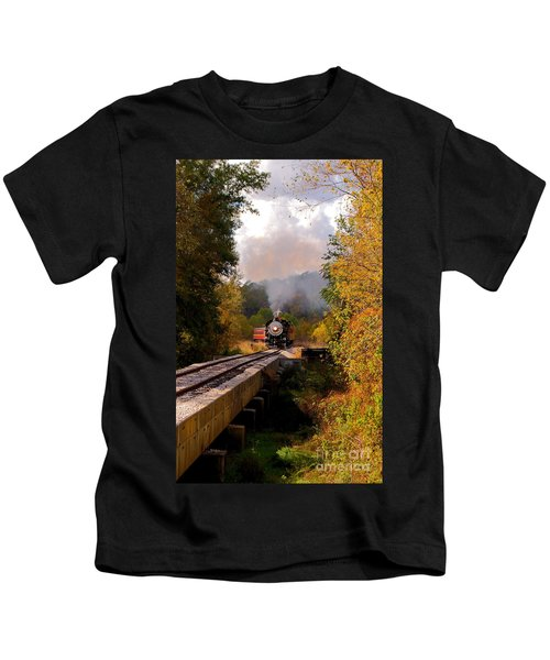 Train Through The Valley Kids T-Shirt