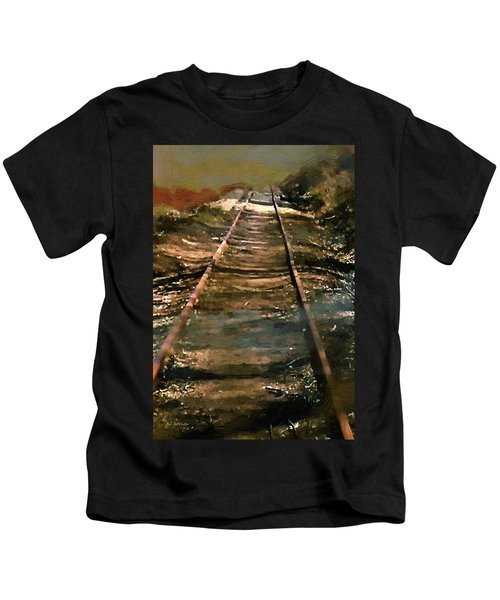 Train Track To Hell Kids T-Shirt