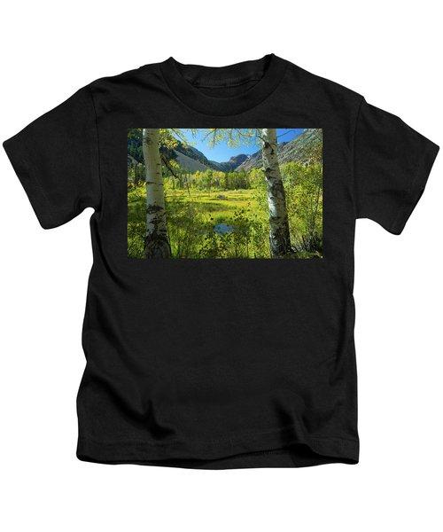 Tree With Mountain Range Kids T-Shirt
