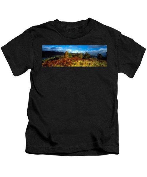 Trees In A Field, Loch Tay, Scotland Kids T-Shirt