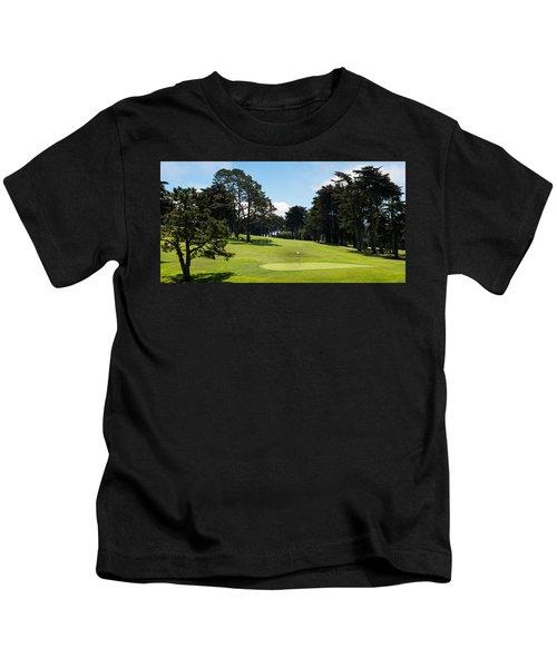 Trees In A Golf Course, Presidio Golf Kids T-Shirt