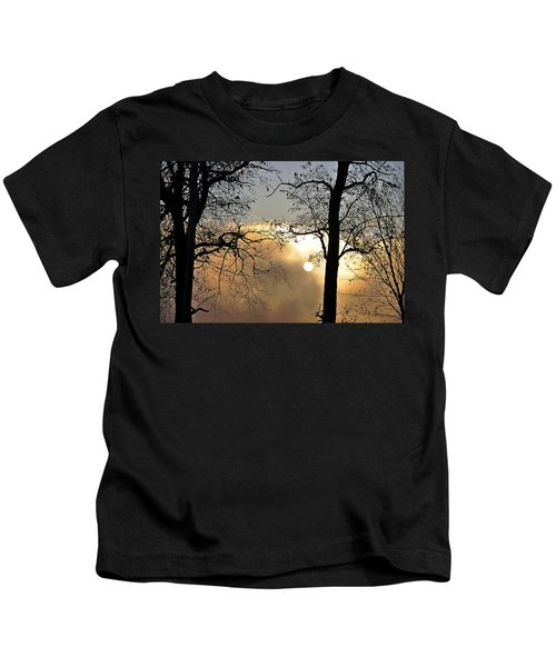 Trees On Misty Morning Kids T-Shirt