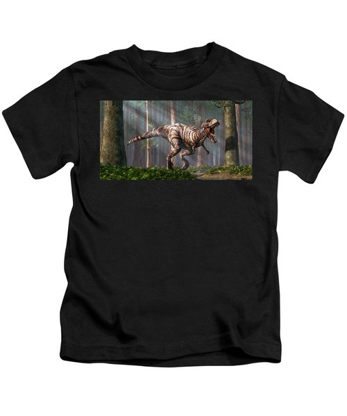 Trex In The Forest Kids T-Shirt