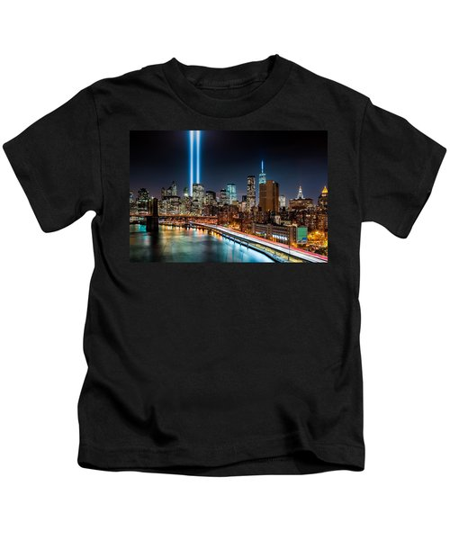 Tribute In Light Memorial Kids T-Shirt