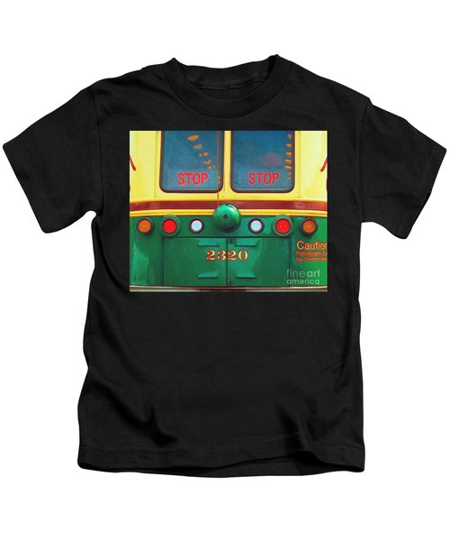 Trolley Car - Digital Art Kids T-Shirt