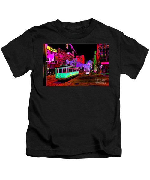 Trolley Night Digital  Kids T-Shirt
