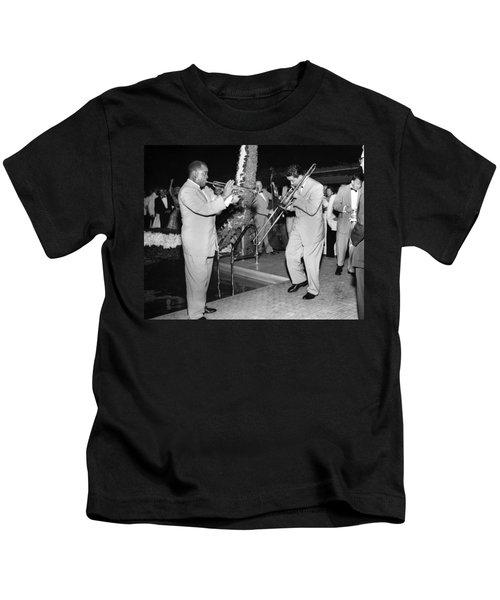 Trumpeter Louis Armstrong Kids T-Shirt
