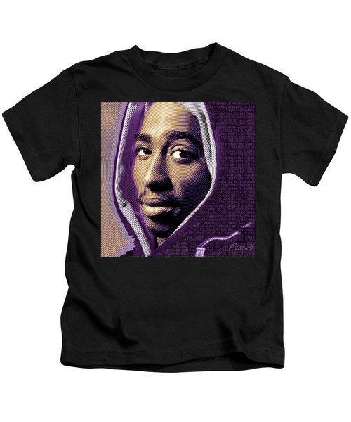 Tupac Shakur And Lyrics Kids T-Shirt
