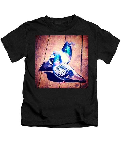 Two Pigeons And A Ghost Kids T-Shirt
