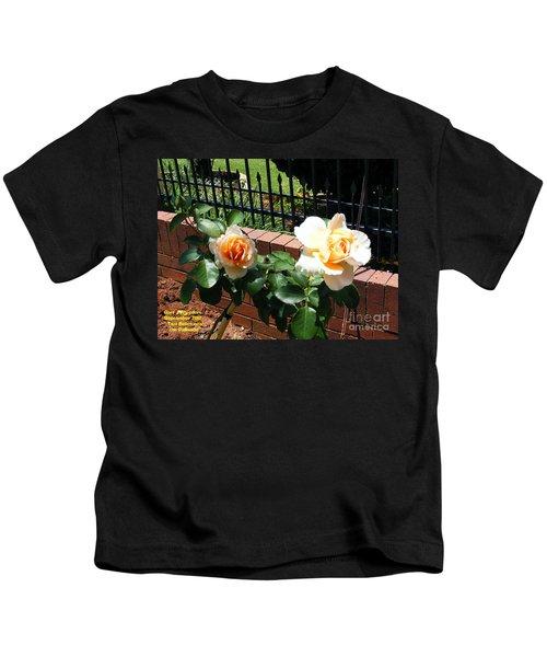 Two Roses Near The Pallisade Kids T-Shirt