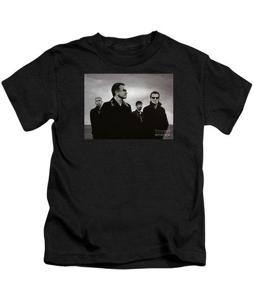 U2 Kids T-Shirt by Paul Meijering