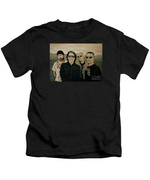 U2 Silver And Gold Kids T-Shirt