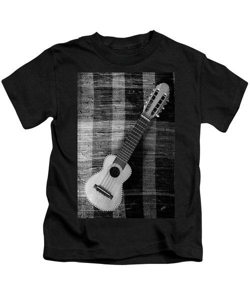 Ukulele Still Life In Black And White Kids T-Shirt