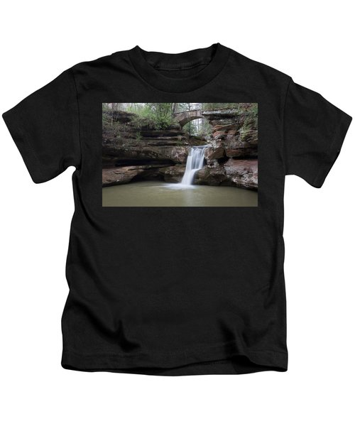 Upper Falls At Old Mans Cave II Kids T-Shirt