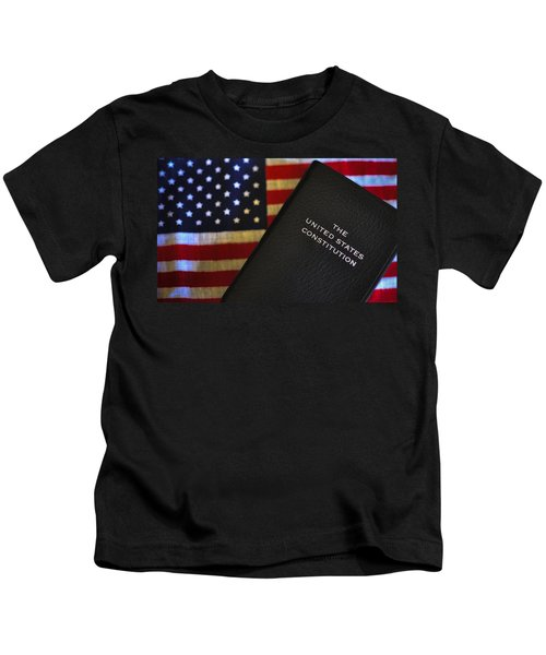 United States Constitution And Flag Kids T-Shirt