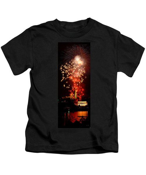 Usa, Washington Dc, Fireworks Kids T-Shirt