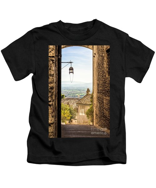 Valley Outside Assisi Kids T-Shirt