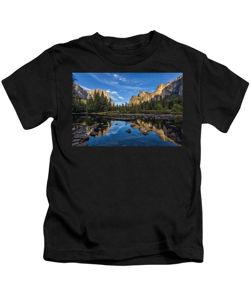 Valley View I Kids T-Shirt by Peter Tellone