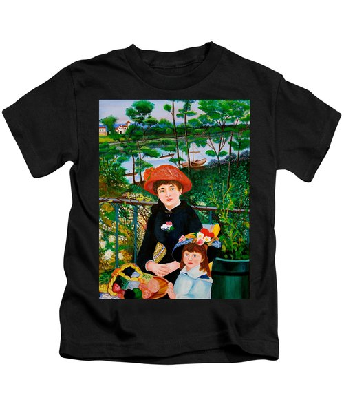 Version Of Renoir's Two Sisters On The Terrace Kids T-Shirt