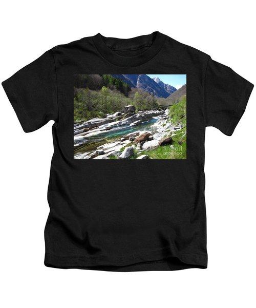 Verzasca Valley Switzerland Kids T-Shirt