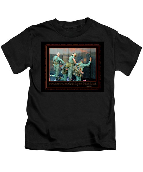 Veterans At Vietnam Wall Kids T-Shirt